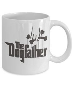 The Dogfather Fun Coffee Mug! A Perfect Present For Dad, Grandpa, Uncle, Nephew or Friend. For More Funny Gift Ideas, Visit RixionGear. SHOP NOW!