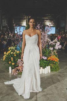 Karen Willis Holmes {The 'Anya' gown + Genevieve overlay} #weddingdresses #bridal #2014 runway