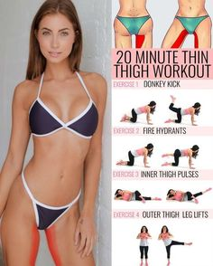The ideal inner-thigh workout — one that blasts fat while building muscle — is hard to come by. Luckily for you, we've done the research! Do these seven exercises three days a week and you'll start seeing toned thighs in no time. The inner thigh muscles r Fitness Workouts, At Home Workouts, Leg Workout At Home, Home Exercise Routines, Workout Routines, Thin Thighs Workout, Small Waist Workout, Exercises For Thinner Thighs, Toned Legs Workout