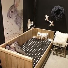 Kidsroom. White, black, grey. Scandinavian. Wood and a lot of naturals. Kidsroom decoration.