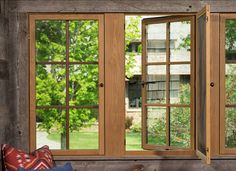 Window Ideas. The windows of this rustic guest house are from Marvin Windows.