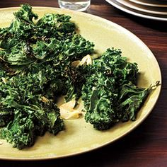 Holiday Sides | Garlic-Roasted Kale | CookingLight.com