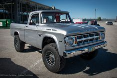 1968 Dodge Power Wagon 4x4 Pickup Truck 3/4 View