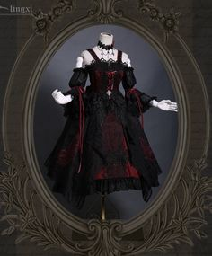 LolitaWardtobe - Bring You the latest Lolita dresses, coats, shoes, bags etc from Trustworthy Taobao indie Brands. We never resell Lolita items from untrustworthy Taobao stores. Gothic Lolita Fashion, Gothic Dress, Gothic Outfits, Fashion Goth, Lolita Style, Goth Style, Latex Fashion, Dark Fashion, Pretty Outfits