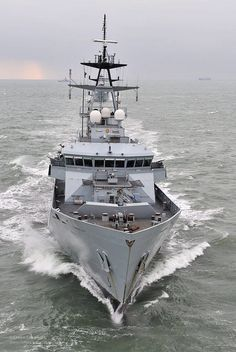 The River-class patrol vessel HMS Mersey is pictured at sea near Portsmouth. Agreement has been reached on construction of three large patrol vessels to replace the River-class vessels for the British Navy. Navy Military, Army & Navy, Cruisers, Military Drawings, The Last Ship, Falklands War, British Armed Forces, Merchant Marine, Naval History