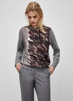 Wool Blend Printed Sweater - Collection | Adolfo Dominguez shop online