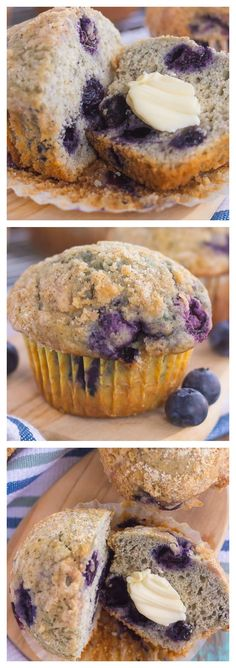 Bakery Style Blueberry #Muffins! So easy to make and so delicious!