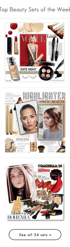 """""""Top Beauty Sets of the Week"""" by polyvore ❤ liked on Polyvore featuring beauty, Revlon, Lancôme, Topshop, Chanel, Jane Iredale, Too Faced Cosmetics, MAC Cosmetics, Yves Saint Laurent and Elizabeth Arden"""