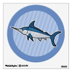 Purchase yourself a bunch of Ocean wall decals from Zazzle! Our wall stickers are great for any room in your home or office! Wall Stickers, Wall Decals, Blue Marlin, Animal Room, Room Decor, Animals, Wall Clings, Animales, Pet Store