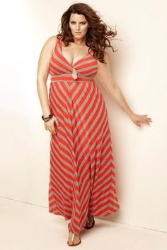 Torrid.com striped maxi dress Móda Pro Ladné Křivky 4b7251b05a