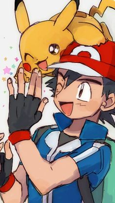 Beautiful ♡ Ash and Pikachu ^.^ ♡ I give good credit to whoever made this  I found this in sakunyu.tumblr.com