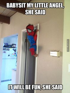 Babysitting Spiderman. http://mbinge.co/1okANsE