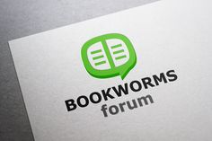 Check out Bookworms Forum Logo by Bevouliin Design on Creative Market