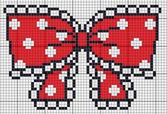 polka dot bow cross stitch