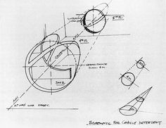 Diagram for Conical intersect by Gordon Matta-Clark, 1975