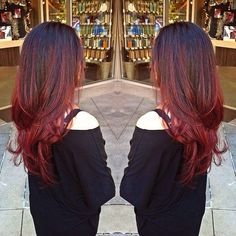 red balayage ombre - Google Search