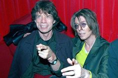 Mick Jagger and David Bowie pictured in 1999