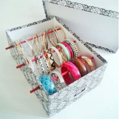 DIY jewelry organizer box