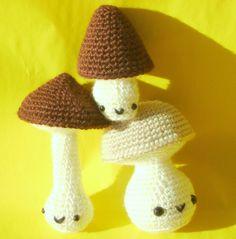 Kawaii amigurumi mushrooms