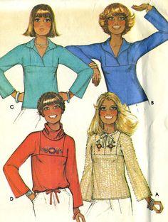 Vintage 70s McCalls 5682 Misses UNCUT Boho Pullover by RomasMaison
