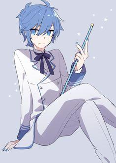 Boys Blue Hair, Blue Hair Anime Boy, Boy Blue, Vocaloid Kaito, Kaito Shion, Anime Ghost, Mikuo, Ghost Boy, Art Anime