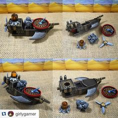 Loving this Forbidden Desert ship repaint by nice job! Worth a regram. Board Game Pieces, Board Game Geek, Fun Board Games, Tabletop Board Games, Some Games, Games Images, Love Images, Deserts, Tile