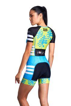 Kona 18 Women's Sleeved One Piece Triathlon Suit Triathlon Clothing, Sprint Triathlon Training, Tri Shorts, Tri Suit, Triathalon, Women Sleeve, Short Tops, Workout Wear, Veils