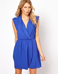 Love this pretty shade of blue on this wrap dress from ASOS
