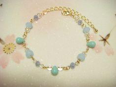 Pastel blue bracelet beaded bracelet for by Coloramelody