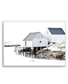 My Wishlist - Olive et Oriel Cottages By The Sea, Foto Poster, Black And White Artwork, Framing Photography, Photography Tips, Detail Art, Beach Scenes, Coastal Homes, Framed Art Prints