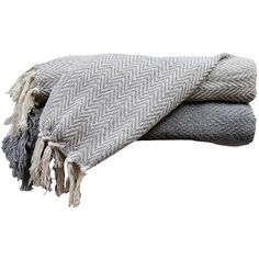 Sienna Throw in Gray ❤ liked on Polyvore featuring home, bed & bath, bedding, blankets, accessories, gray throw, grey bedding, cotton throw blanket, cotton throw and gray cotton blanket