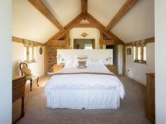 John and Wendy Bullen have turned a derelict old barn into a stunning home in an ambitious conversion project with new oak frame additions — and took the prize of Best Conversion in The Daily Telegraph Homebuilding & Renovating Awards 2010.