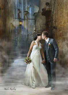 Lovely fantasy wedding portrait
