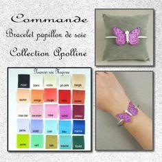COMMANDE BRACELET PAPILLON SOIE - APOLLINE - Boutique www.magicreation.fr