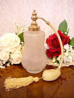 フランスアンティーク古い綺麗ガラス香水瓶パフュームボトル ¥3999円 〆03月06日
