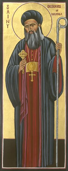Icon of St. Geevarghese Mar Gregorios of Parumala, written by the hand of Minz Joseph