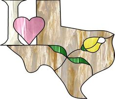I ♥ TX-idea for other states also in mosaic! Stained Glass Projects, Stained Glass Patterns, Mosaic Glass, Glass Art, Texas Things, Glass Picture Frames, Loving Texas, Texas Star, Lone Star State