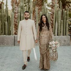 Isha Sathya and Suraj Philips seemed ahead of the 2020 wedding curve when they wed in an intimate ceremony with just 30 guests prior to the U.S. lockdown. Wedding Couples, Wedding Photos, Outdoor Wedding Reception, Father Daughter Dance, Groom Outfit, Cabo San Lucas, Gifts For Wedding Party, Real Weddings, Wedding Inspiration