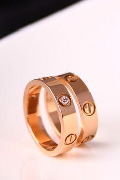 Narrow version screws couple LOVE Ring ring men titanium steel Ring ,wedding rings