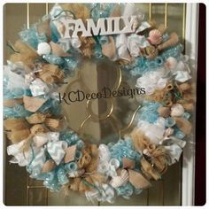 Hey, I found this really awesome Etsy listing at https://www.etsy.com/listing/219255915/beach-deco-mesh-wreath