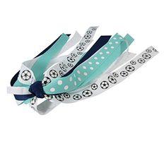 Gitter Soccer Hair Streamer for Girl s Ponytail Holder in Made to Match  Ribbon Colors - choose sport 36f2ed0dc616