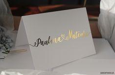 KOMPLET,zaproszenia ślubneThea - Ślub - zaproszenia, kartki - Pakamera.pl Place Cards, Place Card Holders, Cards Against Humanity, Wedding, Mariage, Weddings, Marriage, Chartreuse Wedding