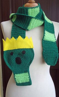 Super Long Crochet Worm King from Adventure Time Scarf - Over 8Ft  long - Made to Order on Etsy, $35.00