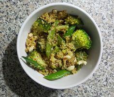 Poêlée Boulgour Quinoa aux légumes verts et sauce soja