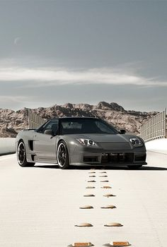 Cool Grey Honda NSX via carhoots.com A cousin to the Acura NSX