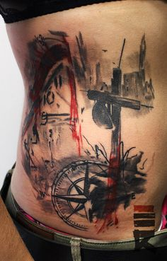 Image from http://orig11.deviantart.net/463d/f/2015/037/6/f/grave__cross__clock_in_trash_polka_style_by_enhancertattoo-d8gzaxn.jpg.