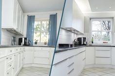 Küchenrenovierung Led Spots, Modern, Kitchen Cabinets, Home Decor, Old Kitchen, Set Of Drawers, Closet, Simple, Trendy Tree