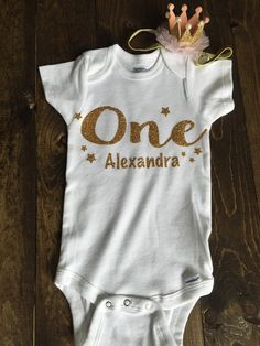 34c675551 Birthday Onesie - Twinkle Twinkle Little Star Personalized onesie - Birthday  Outfit- Pink and Gold Birthday Outfit - With Matching Headband