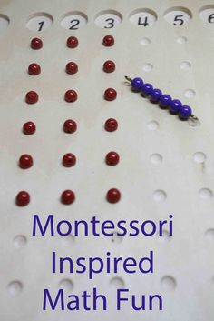 Combine Montessori teen beads with Montessori multiplication board for added math fun.