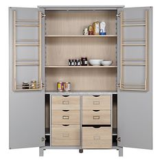 Buy Croft Collection Montrose Larder Unit from our Larder Units range at John Lewis & Partners. Free Delivery on orders over Kitchen Furniture Storage, Kitchen Cabinet Storage, Kitchen Storage, Freestanding Kitchen Furniture, Free Standing Kitchen Units, Simple Interior, Freestanding Kitchen Storage, Storage, Larder Unit